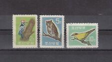 TIMBRE STAMP  3  COREE Y&T#295-97 OISEAU BIRD NEUF**/MNH-MINT 1961  ~R14