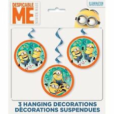 Despicable Me 2 Minions 3 pc Hanging Swirl Decorating Kit