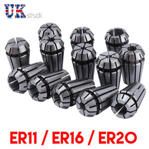 Metric ER11 ER16 ER20 Spring Collet Set CNC Milling Lathe Chuck Carbon Steel TU