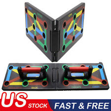 Foldable 9 in 1 Push Up Rack Board Fitness Workout Train Gym Exercise Stands BO