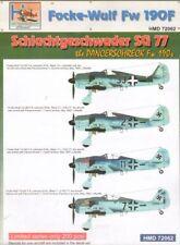 h-model DECALS 1/72 FOCKE-WULF FW 190F SG 77 #72062