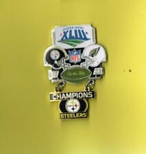Pittsburgh Steelers Super Bowl XLIII 43 Champions Large Dangle Football Hat Pin