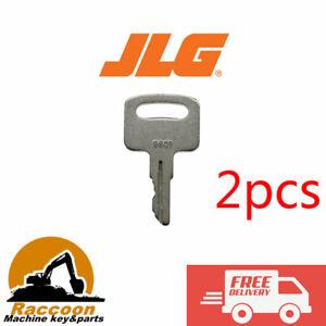 2pcs JLG 9901 Upright Scissor Lift Keys 2860030 Fit Various Manlift and Scissors