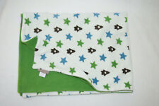 Dwell Studio for Target Rocket Ship Space White Fleece Green Blue Baby Blanket