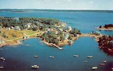 Christmas Cove Maine Birdseye View Of City Vintage Postcard K71148