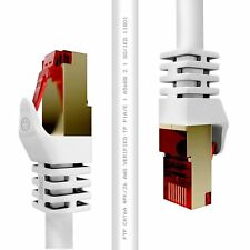 Duronic Câble FTP Ethernet CAT6a 50 m blanc - Usage Pro - pour modem, routeur