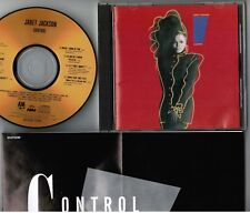 JANET JACKSON  Control JAPAN 24k GOLD CD D33Y3399 w/INSERT+PS No OBI Free S&H
