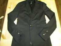 """BODY By Victoria women's black fitted """"tuxedo"""" blazer, size 4, buttons on sleeve"""