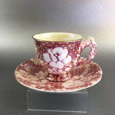 Antique Royal Winton Tea Cup and Saucer English Bone China Gold Teacup England