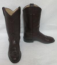Women's Nocona Boots Burgundy Leather Roper #609 Cowboy Boots Sz 4 M