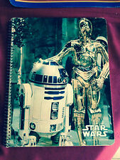 STAR WARS Droids R2D2 C3PO original unused 1977  Mead 60 Sheet Notebook exc