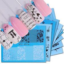 40pcs Water Transfer Stichers Flower Pattern Nail Art Lace Sliders Accessory New