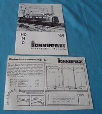 Sommerfeldt 1969 w germany dépliant 12 feuilles Ho N O réseau train électrique