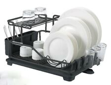 Aluminum Dish Rack, Rustproof, Stainless, Dishrack, Drainer with Tray & Holder