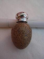 Macintyre Porcelain & Solid Silver Novelty Scent Bottle in Form of a Bird's Egg
