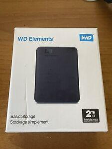 HARD DISK ESTERNO WESTERN DIGITAL 2TB USB 3.0 2000GB WD ELEMENTS 2,5'' PORTATILE