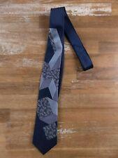 BOTTEGA VENETA intrecciato motif blue silk tie authentic - New in Box