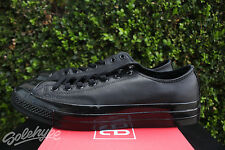 CONVERSE CHUCK TAYLOR ALL STAR 70 OX SZ 8 LEATHER TRIPLE BLACK LOW TOP 155456C