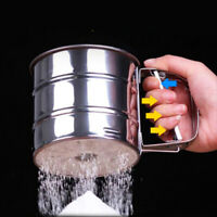 Mechanical Flour Sugar Sifting Mesh Sifter Shaker Baking Cup Home Kitch OSZ