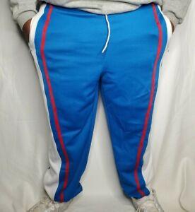 🏀 Platinum FUBU Harlem Globetrotters Blue / White Warm Up Sweat Pants 2XL XXL