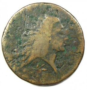 1793 Flowing Hair Wreath Large Cent 1C - Good Details - Rare Coin!