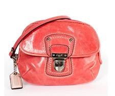 Coach Poppy Leather Push Lock Wristlet 47605 Rose
