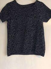 Jaeger Leopard Print Wool Cashmere Blend Jumper S