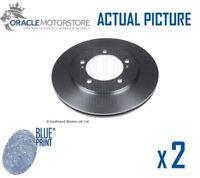 2 x NEW BLUE PRINT FRONT BRAKE DISCS SET BRAKING DISCS PAIR OE QUALITY ADK84312