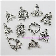 40pcs Lots mixtes de tibetan silver tone charms pendentifs connecteurs