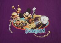 Vintage 90s Disneyland T-Shirt Out Of This World Vacation Tultex Purple Large