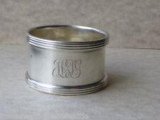 1909 English Sterling Silver Napkin Ring - Monogrammed HJG - French Import Mark?
