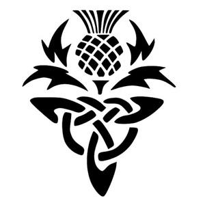 Celtic Thistle Stencil