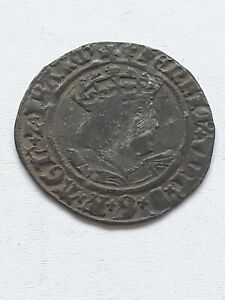 KING HENRY GROAT SECOND COINAGE 1526-44 MM Lis