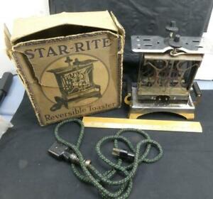 Vintage Art Deco Star Rite Reversible Electric Toaster w/ Box Fitzgerald MFG Co!