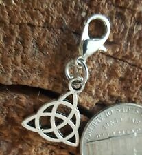 Celtic Silver Trinity Knot Clip Charm Pendant for bracelet chain Locket