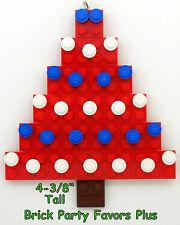LEGO Custom Christmas Ornament - Red Christmas Tree Hand Made NEW Free Ship