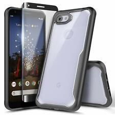 For Google Pixel 3a / 3a XL Case Ultra Hybrid Slim Phone Cover + Tempered Glass