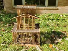 Vintage Asian Wooden Bird Cage