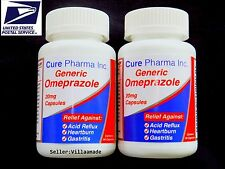 OTC OMEPRAZOLE 20 mg 120 Capsules (ULTRA Brand) Acid Reducer Exp Oct/2019 SEALED