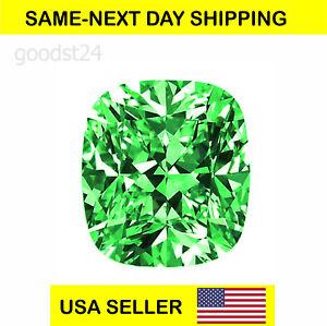 CUBIC ZIRCONIA Loose Green Cushion Cut Stone CZ USA Shipper 6x6 mm, 8x8 mm..