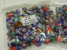 2 Pounds Assorted India Handmade Chevron Multilayer Glass Beads Bulk Lot (RJ-6)