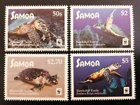 WWF - SAMOA - Schildkröte Turtle - 2016 - kpl. Satz - perfekt erhalten - **/MNH