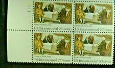 US SCOTT #2052 20c PLATE BLOCK OF 4 - 1983 TREATY OF PARIS MNH
