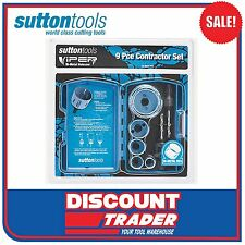 Sutton H114 Viper HSS Bi-Metal 9Pc Holesaw Electrician Contractor Set - H114S13