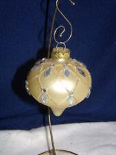 Holiday/ Christmas Ornament-GLASS-GOLD/ GLITTER/ GEMSTONES