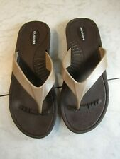 Okabashi Jelly Brown/Gold Flip Flop Sandal Shoes Women's Size M-L