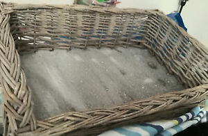 Wicker Dogs Bed - Used Once For The Office