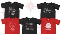 Youth Toddler Christmas Outfit Mix Believe Santa Let It Snow Shirt Kids Boy Girl