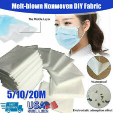 Melt-blown Nonwoven DIY Fabric Mouth Face Craft Filter Interlining 5/10/20M USA
