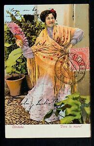 3051.-CÓRDOBA -Viva tu mare! (Enviada a México en 1909)(Tarjeta Sin División)